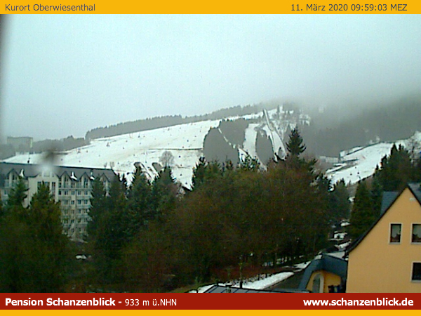 Webcam Oberwiesenthal Pension Schanzenblick